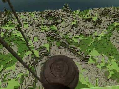 Unity - MineCraft like terrain generation from maps.