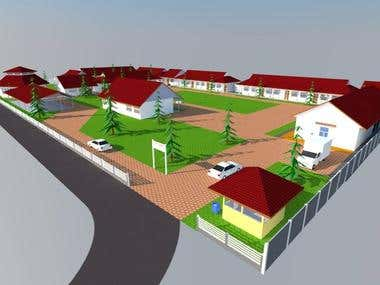 Design Gedung sekolah SMKN 1 Koto XI Tarusan