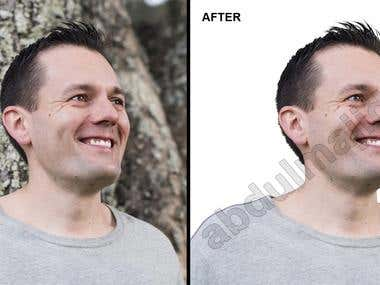 Background Removal of Models in Photos