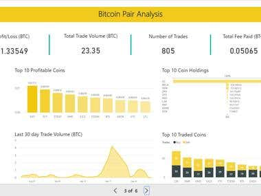 Cryptocurrency Portfolio Management using Power BI