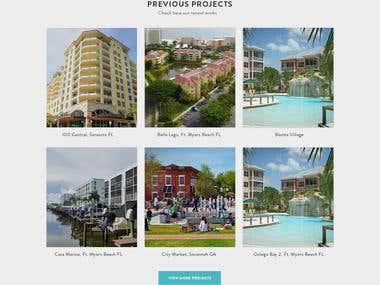 Website Design & development for Real Estate Company