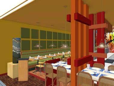 625 square foot Sushi Restaurant