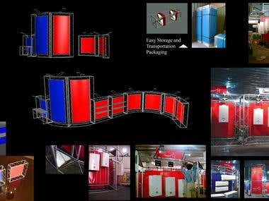 Display Shelves / Design & supervising for make