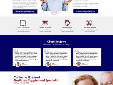 Website for Insurance Startup