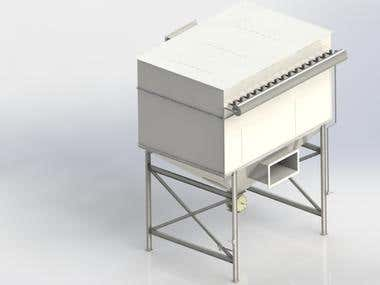 Compact bag filter plant for steel industry