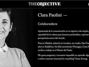 Colaboraciones en The Objective