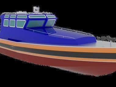Patrol boat designe