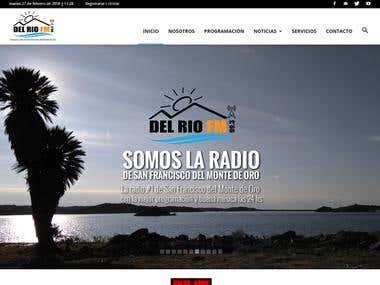 Desarrollo de Sitio web Del Rio FM