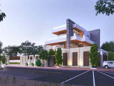 Architectural Exterior Rendering