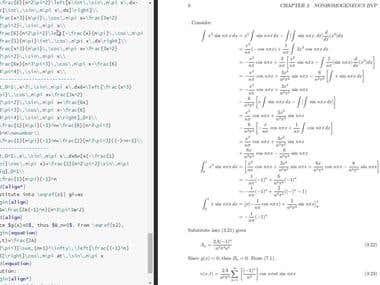 Mathematics via LaTEX