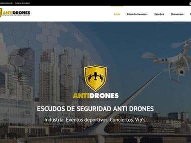 Desarrollo de Sitio Web Antidrones