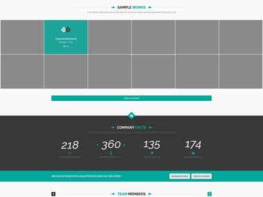 PSD to HTML5, CSS3 & Fully Responsive Theme Design