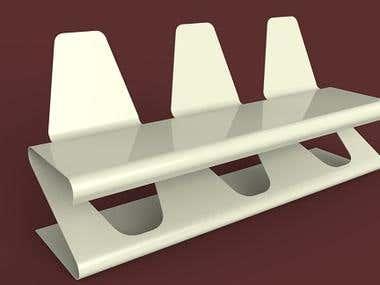 Sheet-metal chair