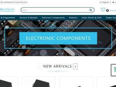 Ecommerce website: Magento
