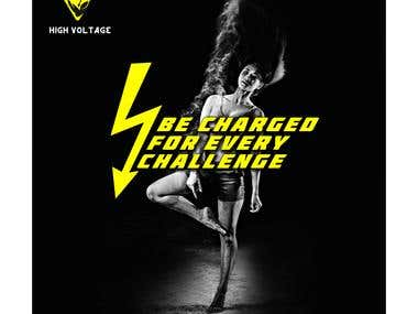 Template Design For High Voltage Fitness Club