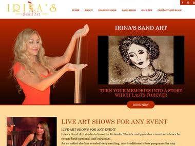 Irinas Sand Art http://www.irinassandart.com/