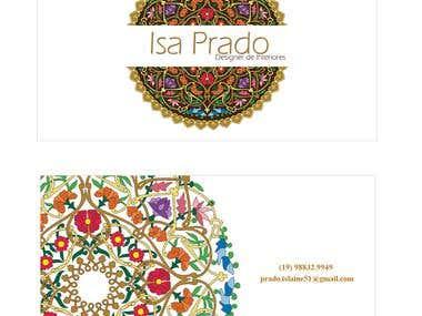 Cartão de Visita da Designer de Interiores Isa Prado