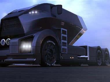 Black HAWK truck