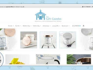 Online Shop / Website - The Gift Gazebo