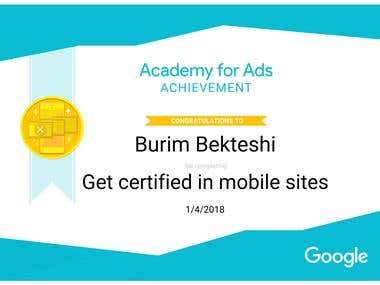 Get certified in mobile sites