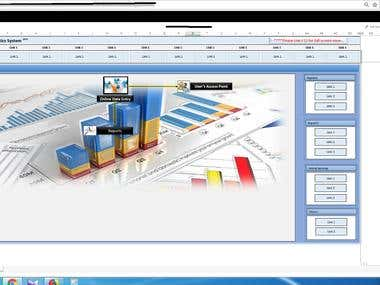 Excel Online Database Reporting System