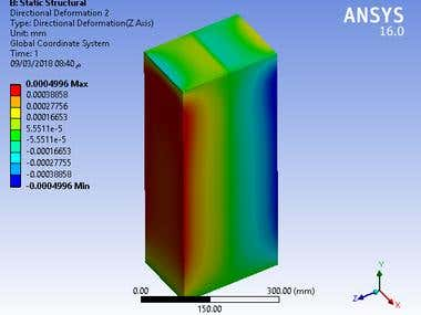 Stress Analysis on RC beam using ANSYS structural