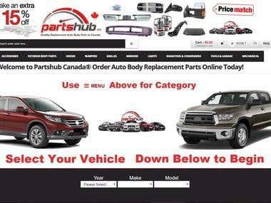 Partshub Canada Auto Body Parts Niche