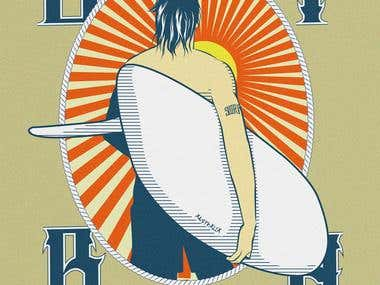 contest design t-shirt Bondi beach