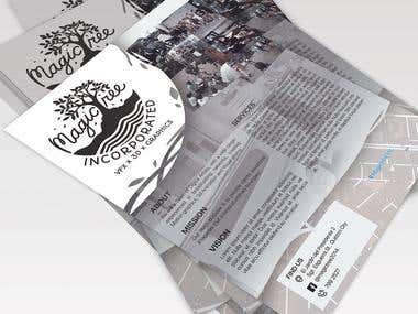Magictree Studio mockup flyer