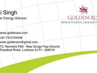 Golden ACS visiting Card