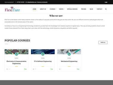E-learning Plateform on Wordpress