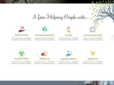 Web Design for a Holistic health Coach