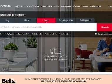 Rewrite websites content