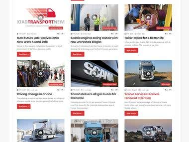 "Website Development for ""https://roadtransportnews.co.za/"""
