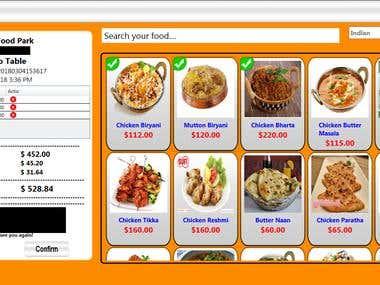 Food Order Management Desktop-web App
