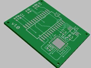 DIPTRACE PCB SCH work