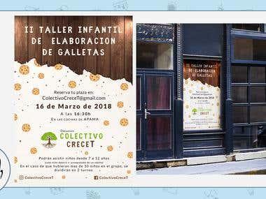 Poster Colectivo CreceT / Taller de galletas