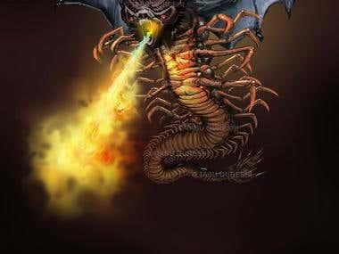 HQ Monster Illustration