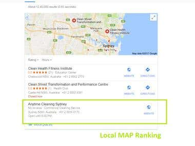 Local Map Ranking
