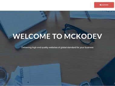 Mckodev Website