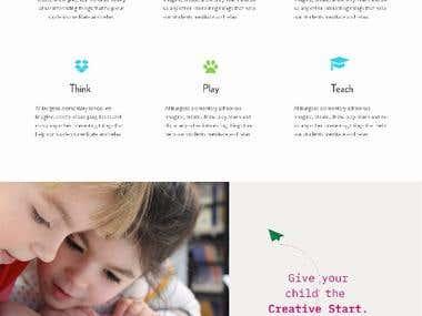 Primary School Website- Design 2