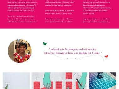 Primary School Website- Design 1