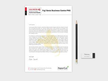 Letterhead For Fuji Xerox Business Center PNG