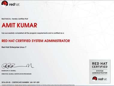 Red hat certification..
