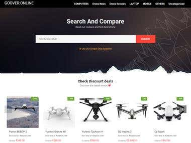 Price compare e commerce site