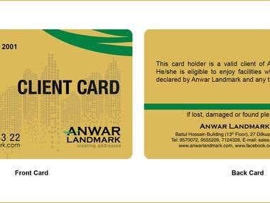 Client Discount Card Design