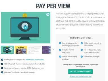 Pay per View WordPress Plugin