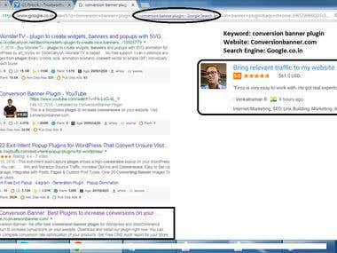 First Page ranking in Google.co.in