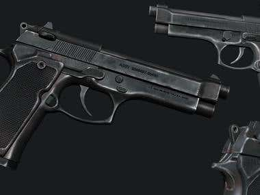 3D Weapon - Beretta Pistol