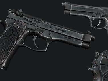3D Weapon - Beretta Pistol